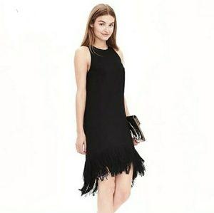 Banana Republic Black Fringe Flapper Like Dress